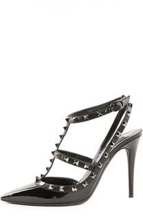 Лаковые туфли Rockstud Noir на шпильке Valentino