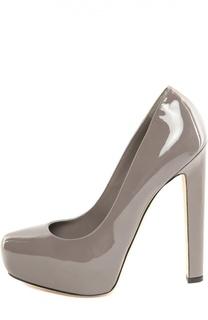 Лаковые туфли New Maniac на устойчивом каблуке Brian Atwood