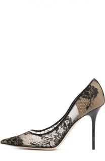 Кружевные туфли Abel на шпильке Jimmy Choo