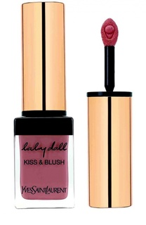 Блеск для губ и румяна Baby Doll Kiss & Blush 12 Moca Garconne YSL