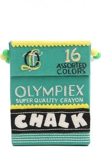 Клатч в форме упаковки мелков с вышивкой Olympia Le-Tan