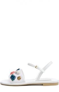 Текстильные сандалии Astrid с камнями Stella McCartney
