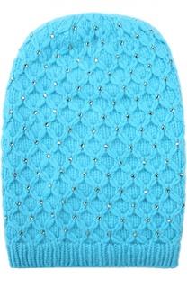 Вязаная шапка из кашемира с кристаллами Swarovski William Sharp
