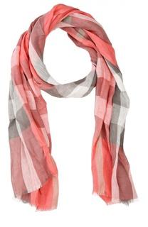 Клетчатый шарф из льна Burberry