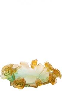 Ваза для фруктов Rose Passion Daum