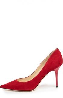 Замшевые туфли Agnes на шпильке Jimmy Choo