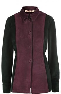 Замшевая блуза Marni