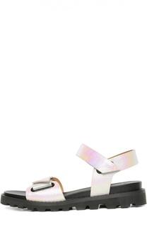 Сандалии из металлизированной кожи Marc by Marc Jacobs