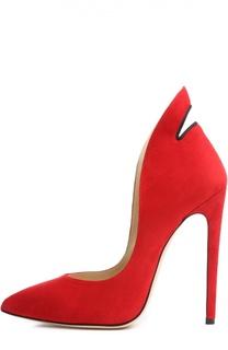 Замшевые туфли Pizo на шпильке Aleksandersiradekian