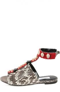 Кожаные сандалии с декоративной отделкой Altuzarra