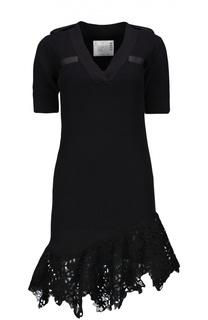 Вязаное платье Sacai