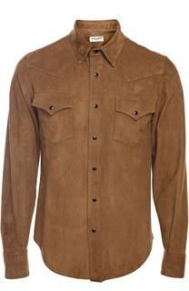 Замшевая рубашка Saint Laurent