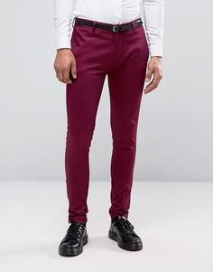 Супероблегающие малиновые брюки ASOS - Фиолетовый