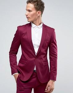 Супероблегающий малиновый пиджак ASOS - Фиолетовый