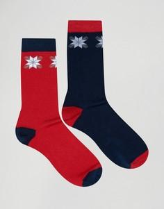 2 пары носков с рождественским узором Фэйр-Айл SSDD - Красный