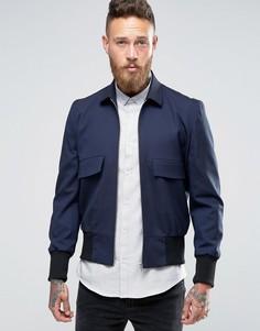 Темно-синяя куртка-пилот с воротником ASOS - Темно-синий