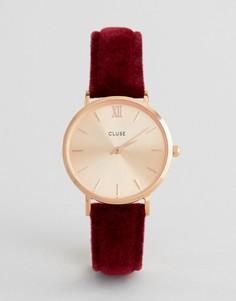 Часы с вельветовым ремешком Cluse CL30042 - Красный