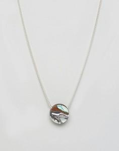 Ожерелье с мраморной подвеской Wolf & Moon - Мульти