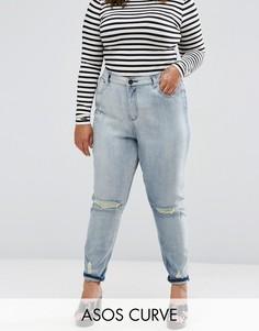 Винтажные рваные джинсы Farleigh ASOS CURVE - Синий
