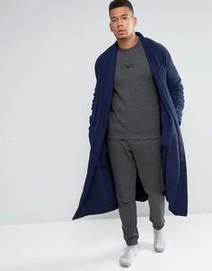 Спортивные штаны узкого кроя из стеганого хлопка Emporio Armani - Серый