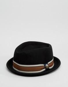 Черная шляпа Goorin Jeffrey Pork Pie - Черный