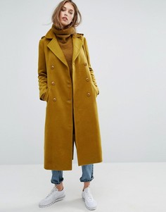 Пальто макси в стиле милитари Missguided Premium - Зеленый
