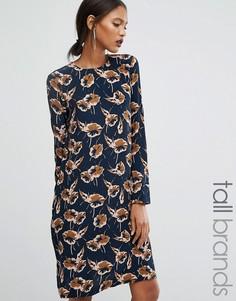 Цельнокройное платье с принтом Y.A.S Tall Lella - Мульти