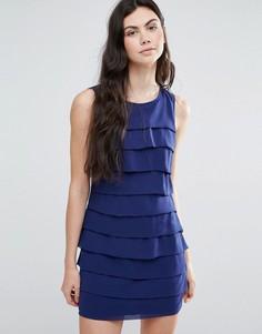 Темно-синее ярусное платье Madam Rage - Темно-синий