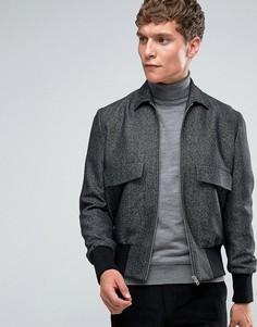 Твидовая куртка-пилот с воротником ASOS - Серый