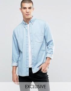 Рубашка с карманами и выбеленным эффектом Brooklyn Supply Co - Синий
