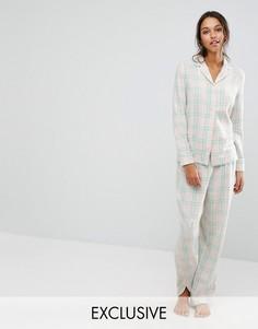 Пижама с клетку Chelsea Peers - Мульти
