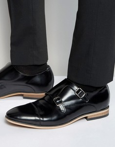Черные кожаные монки Dead Vintage - Черный