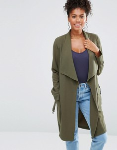 Легкая куртка с ремнем Liquorish - Зеленый