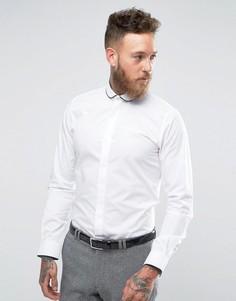 Рубашка узкого кроя с окантовкой на закругленном воротнике Hart Hollywood - Белый