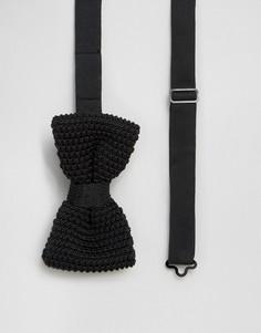 Черный трикотажный галстук-бабочка Feraud - Черный