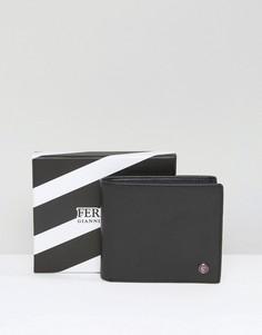 Кожаный бумажник с контрастной внутренней отделкой Feraud - Черный