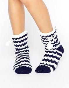 Вязаные носки в полоску Totes - Темно-синий
