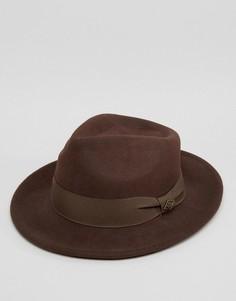 Коричневая мягкая фетровая шляпа Goorin Fratelli - Коричневый