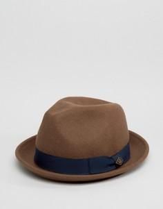 Мягкая фетровая шляпа верблюжьего цвета Goorin Rabbit - Коричневый