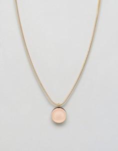 Ожерелье с круглой подвеской Wolf & Moon - Золотой
