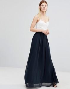 Платье макси с чашечками AX Paris - Кремовый