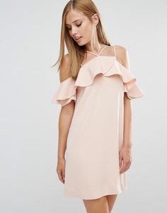 Платье с оборками Keepsake Bitter Sweet - Розовый