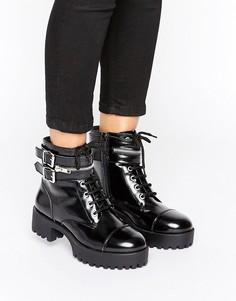 Массивные ботинки в панк-стиле Park Lane - Черный