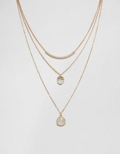 Многоярусное ожерелье с подвесками Nylon - Золотой