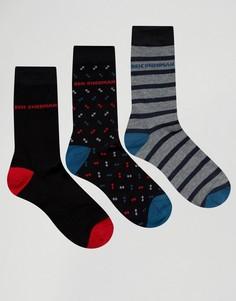 Подарочный набор из 3 пар носков в черных тонах Ben Sherman - Черный