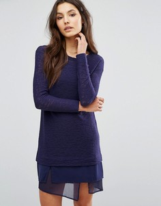 Платье джемпер 2 в 1 Sisley - Темно-синий