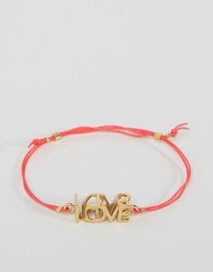 Веревочный браслет Ted Baker Leyyda Love Kiss - Золотой