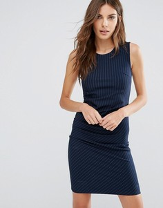 Платье в тонкую полоску Y.A.S Penno - Темно-синий