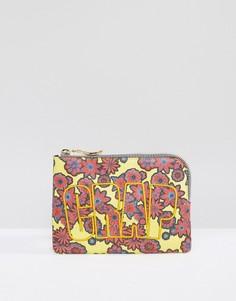 Клатч с цветочным принтом и надписью Crap House Of Holland - Мульти