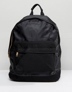 Черный атласный рюкзак со вставками из сетки Mi-Pac - Черный